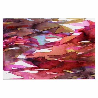 Ebi Emporium Fervor 9 Watercolor Doormat Color: Pink