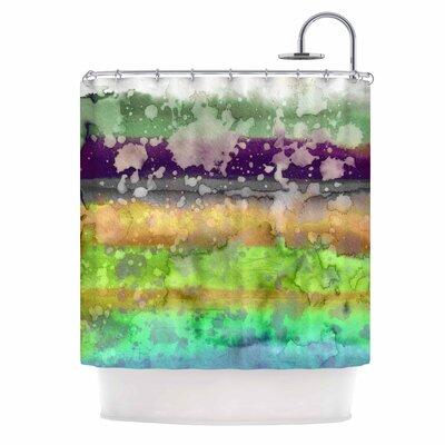 Ebi Emporium California Surf 7 Shower Curtain Color: Teal/Purple