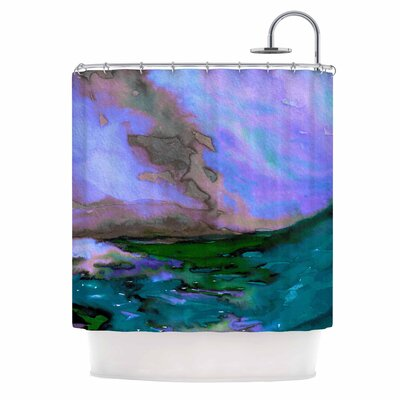 Ebi Emporium Elevated 3 Shower Curtain Color: Purple/Blue