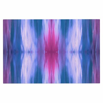 Ebi Emporium Butterfly Tribal 4 Painting Doormat Color: Blue/Magenta