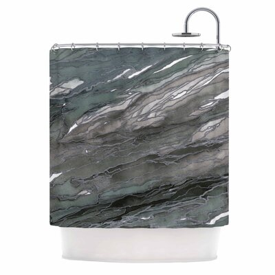 Ebi Emporium Agate Magic Elegance 2 Shower Curtain Color: Gray/Tan