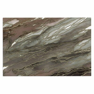 Ebi Emporium Agate Magic Elegance 2 Watercolor Doormat Color: Tan/Gold