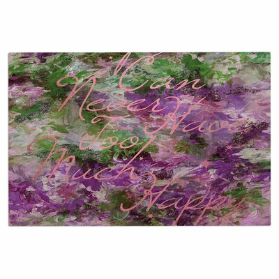 Ebi Emporium Too Much Happy 9 Painting Doormat Color: Purple/Green