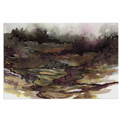 Ebi Emporium The Long Road 1 Olive Watercolor Doormat