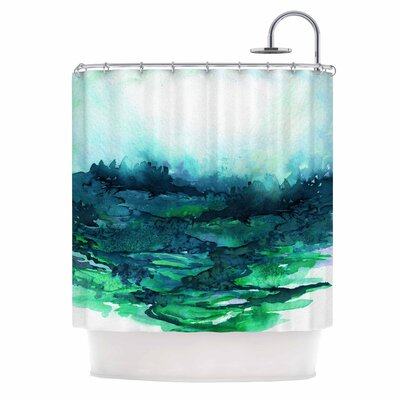Ebi Emporium the Long Road 7 Shower Curtain Color: Green/Teal
