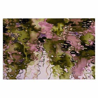 Ebi Emporium Beauty in the Rain Emerald Doormat Color: Olive Pink/Green Lavender