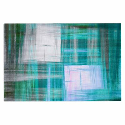 Ebi Emporium Tartan Crosshatch, Grayscale Painting Doormat Color: Teal/Black