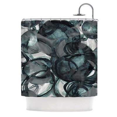 Ebi Emporium Final Eclipse 1. Teal Shower Curtain