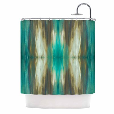 Ebi Emporium Butterfly Tribal 4 Shower Curtain Color: Teal/Tan