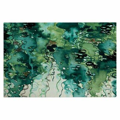Ebi Emporium Beauty in the Rain Emerald Doormat Color: Green