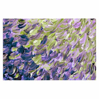 Ebi Emporium Frosted Feathers, Lime Painting Doormat Color: Lime/Purple/Lavender