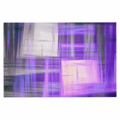 Ebi Emporium Tartan Crosshatch, Grayscale Painting Doormat Color: Purple/Black