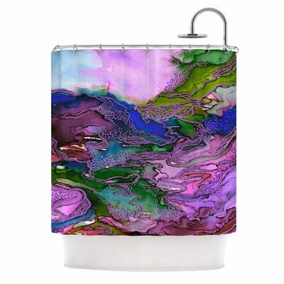 Ebi Emporium Bring on Bohemia 4 Rainbow Shower Curtain Color: Lavender/Blue/Purple