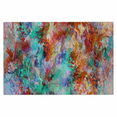 Ebi Emporium The Nexus 2, Painting Doormat Color: Aqua/Teal/Orange