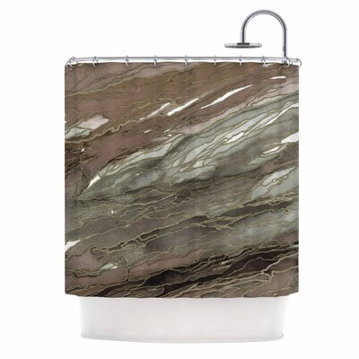 Ebi Emporium Agate Magic Elegance 2 Shower Curtain Color: Tan/Gold