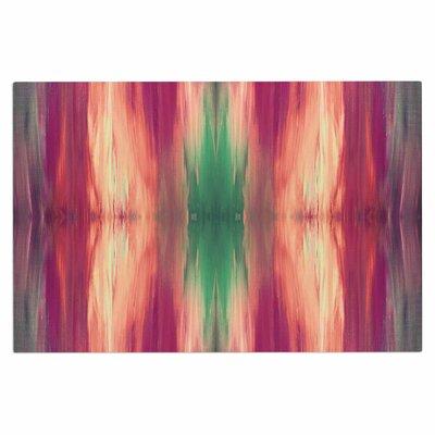 Ebi Emporium Butterfly Tribal 4 Painting Doormat Color: Green/Magenta