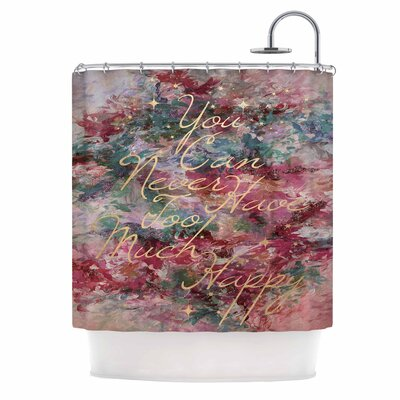Ebi Emporium Too Much Happy 9 Shower Curtain Color: Red/Teal