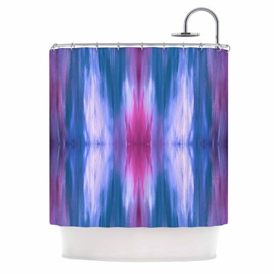 Ebi Emporium Butterfly Tribal 4 Shower Curtain Color: Blue/Magenta