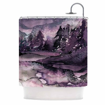 Ebi Emporium Never Leave the Path 6 Shower Curtain Color: Purple/Black