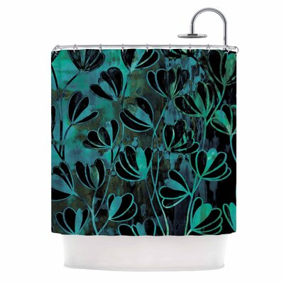Ebi Emporium Efflorescence Night Blossoms Shower Curtain