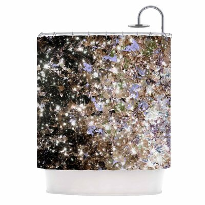 Ebi Emporium Cocoa Nebula Shower Curtain