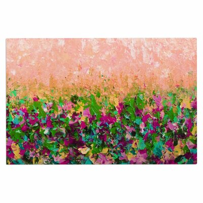 Ebi Emporium Natures Living Room, Peach Painting Doormat