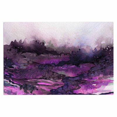 Ebi Emporium The Long Road 7 Watercolor Doormat Color: Purple/Lavender