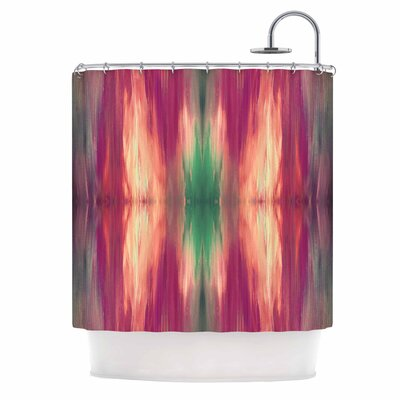 Ebi Emporium Butterfly Tribal 4 Shower Curtain Color: Magenta/Green