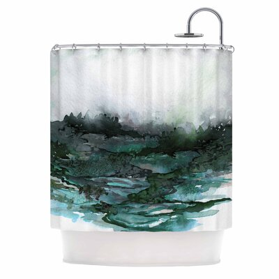 Ebi Emporium the Long Road 7 Shower Curtain Color: Green