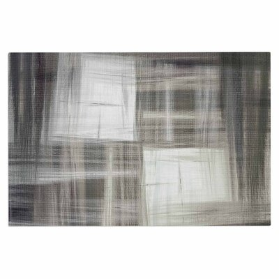 Ebi Emporium Tartan Crosshatch, Grayscale Painting Doormat Color: Gray/Black