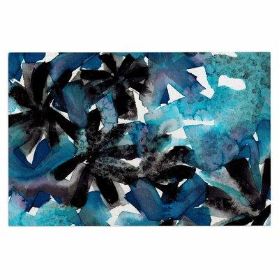 Ebi Emporium Snowy Stars 2, Painting Doormat Color: Blue/Black