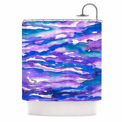 Ebi Emporium Flutter Shower Curtain Color: Blue/Purple