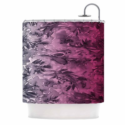 Ebi Emporium Forever Flowers Shower Curtain Color: Pink Ombre/Pink Gray