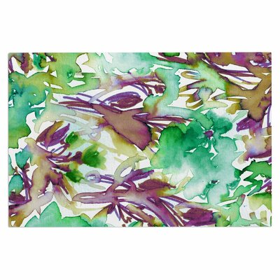 Ebi Emporium Floral Destiny 8 Watercolor Doormat Color: Green/Purple