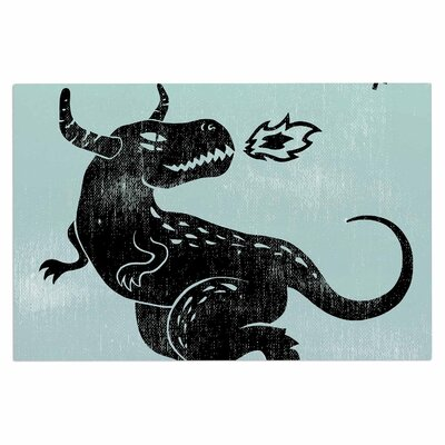 Anya Volk Fire Monster Illustration Doormat