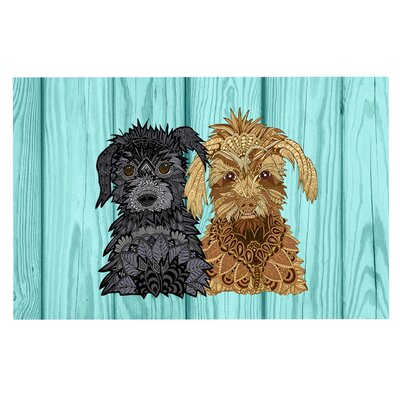 Art Love Passion Daisy Gatsby Abstract Puppies Doormat