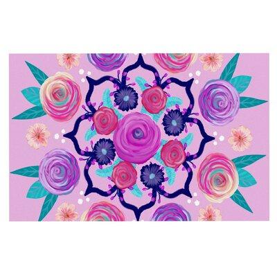 Anneline Sophia Expressive Bloom Mandala Floral Doormat