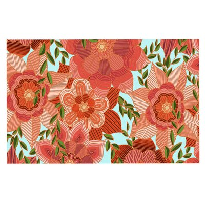 Art Love Passion Flower Power Floral Doormat