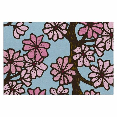 Art Love Passion Cherry Blossom Day Floral Illustration Doormat