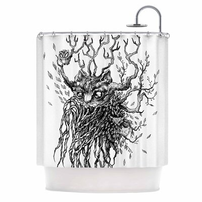 Anya Volk Forest Spirit Nature Shower Curtain