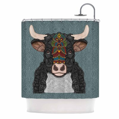 Art Love Passion Steve the Bull Shower Curtain