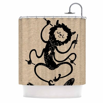 Anya Volk Music Monster Fantasy Shower Curtain