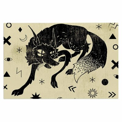 Anya Volk Wolf Illustration Doormat