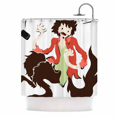 Anya Volk Werwolf Shower Curtain