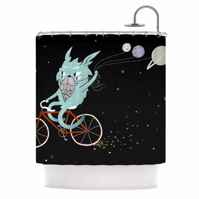 Anya Volk Bunny in Space Fantasy Shower Curtain
