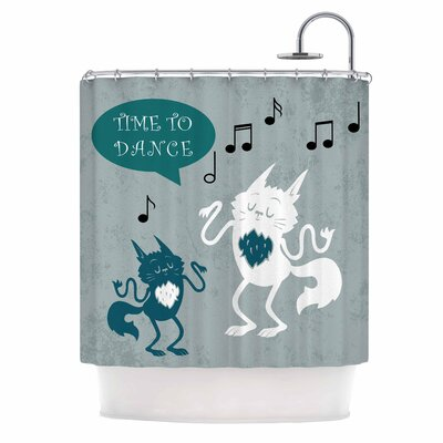 Anya Volk Time to Dance Shower Curtain