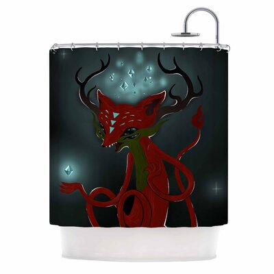 Anya Volk Magic Fox Fantasy Shower Curtain
