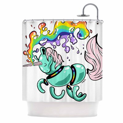 Anya Volk Gummy Unicorn Shower Curtain
