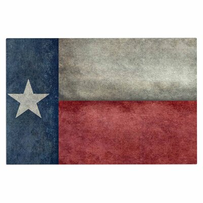 Bruce Stanfield Texas State Flag Vintage Digital Doormat