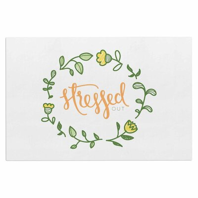 Busy Bree Stressed Out Floral Doormat